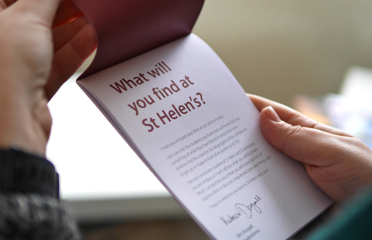 Branding, communications and campaign<br>for St Helen and St Katharine School