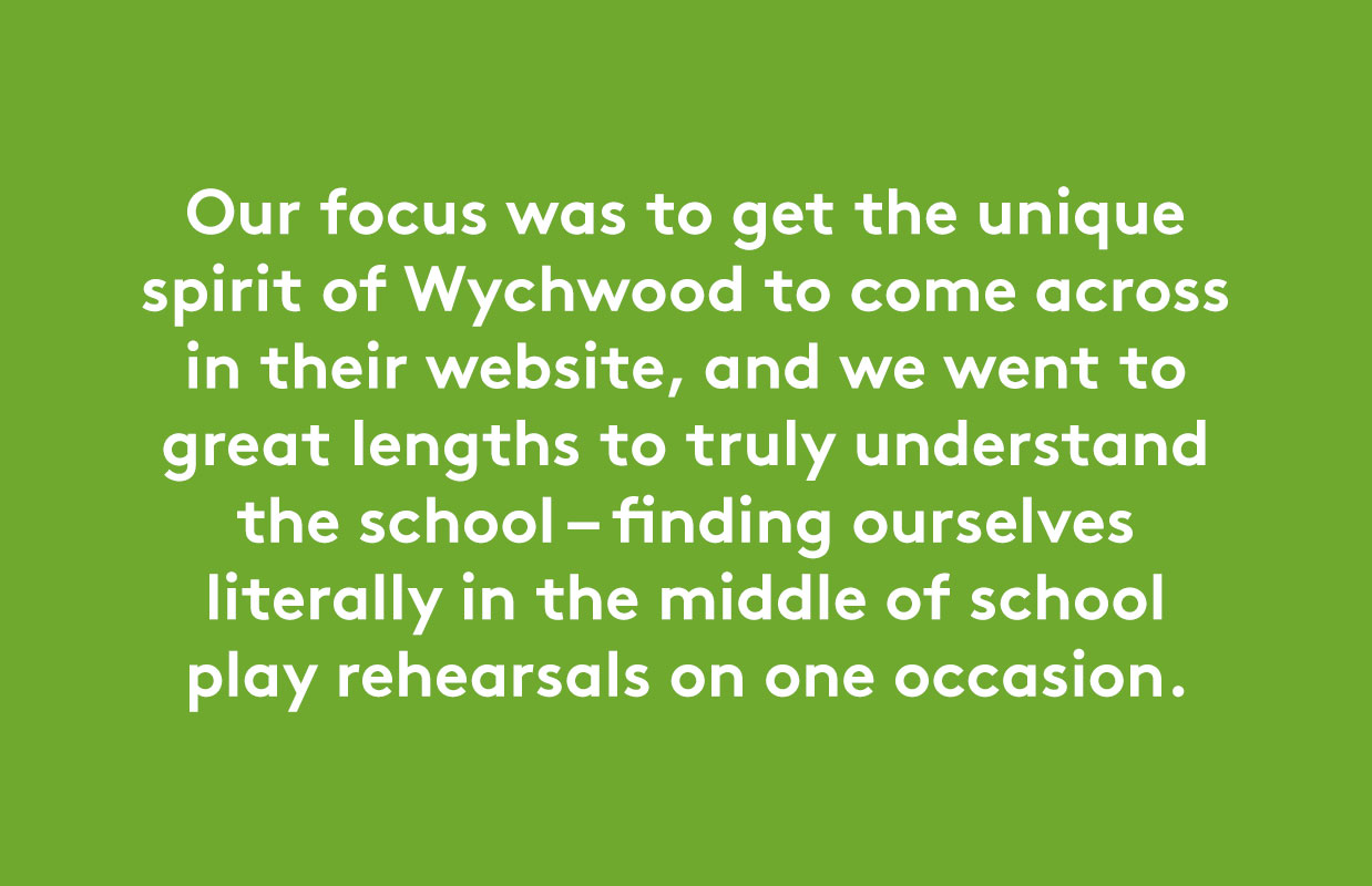 Website and prospectuses for Wychwood School